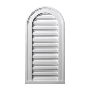 Restorers Architectural 16 Inch Cathedral Top Urethane Decorative Gable Vent