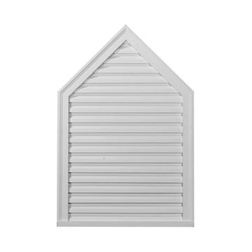 Restorers Architectural 24 Inch Peaked Urethane Functional Gable Vent