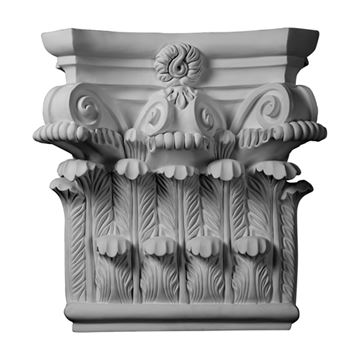 Restorers Architectural 25 Inch Corinthian Urethane Capital