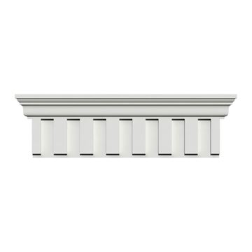 Restorers Architectural 9 Inch Dentil Urethane Door Or Window Crosshead