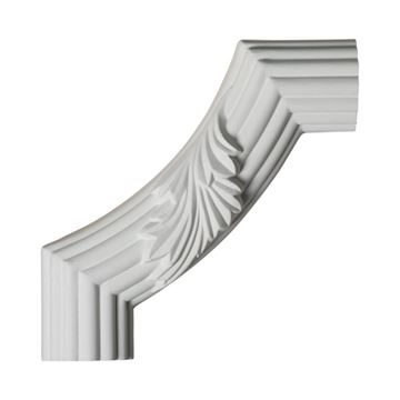 Restorers Architectural Acanthus & Reed Small Corner Urethane Panel Molding
