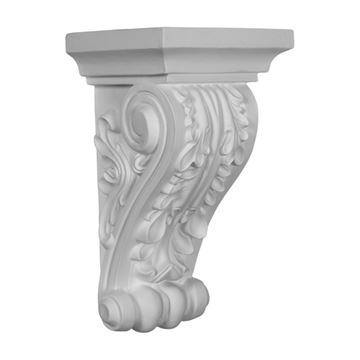 Restorers Architectural Acanthus 10 5/8 Inch Urethane Corbel