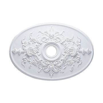 Restorers Architectural Alexa Oval Urethane Ceiling Medallion