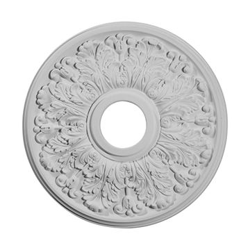 Restorers Architectural Apollo Urethane Leaf Ceiling Medallion