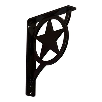 Restorers Architectural Austin Wrought Iron/Steel Single Brace Bracket