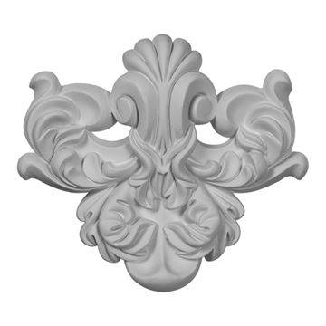 Restorers Architectural Benson Flourish Urethane Onlay Applique
