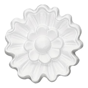 Restorers Architectural Blackthorne Urethane Rosette Applique