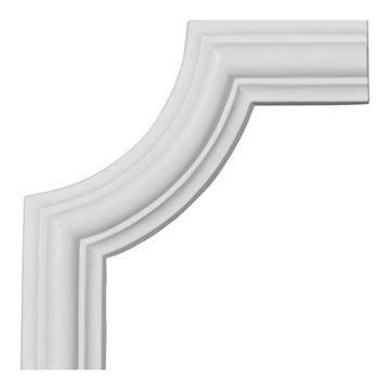 Restorers Architectural Bradford Smooth Corner Urethane Panel Molding