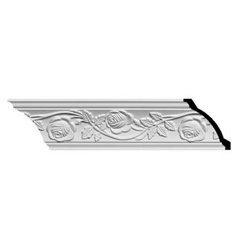 Restorers Architectural Bulwark Rose Urethane Crown Molding