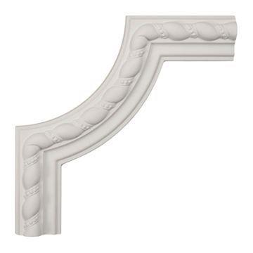 Restorers Architectural Devon Rope Corner Urethane Panel Molding