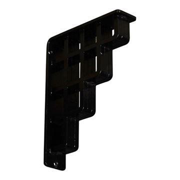 Restorers Architectural Diane Wrought Iron/Steel Triple Brace Bracket