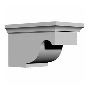 Restorers Architectural Dublin 5 5/8 Inch Urethane Bracket