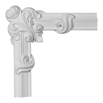Restorers Architectural Edinburgh Ornate Corner Urethane Panel Molding
