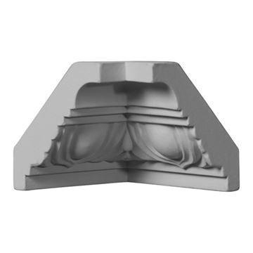 Restorers Architectural Egg & Dart Urethane Inside Molding Corner