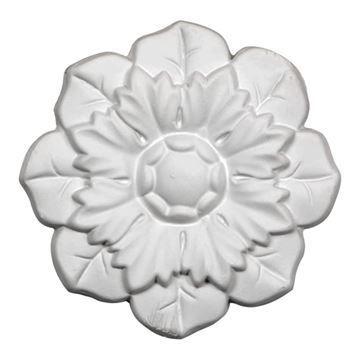Restorers Architectural Emery Flower Urethane Onlay Applique
