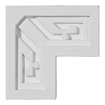 Restorers Architectural Eris Key Corner Urethane Panel Molding