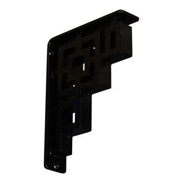 Restorers Architectural Eris Wrought Iron/Steel Triple Brace Bracket