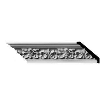 Restorers Architectural Fleur De Lis Urethane Crown Molding