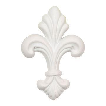 Restorers Architectural Fleur-de-lis Urethane Onlay Applique