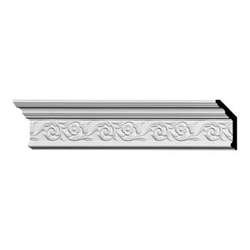 Restorers Architectural Floral 5 5/8 Inch Urethane Crown Molding