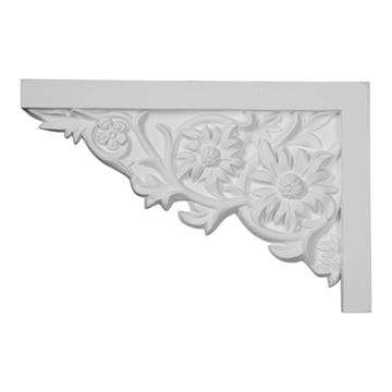 Restorers Architectural Floral Large Urethane Stair Bracket