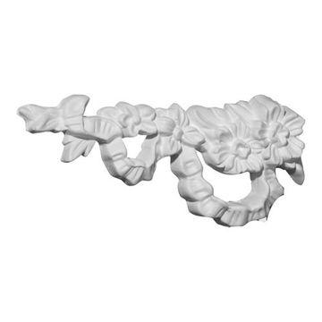 Restorers Architectural Floral Ribbon Urethane Onlay Applique