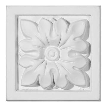 Restorers Architectural Floral Urethane Plinth Block