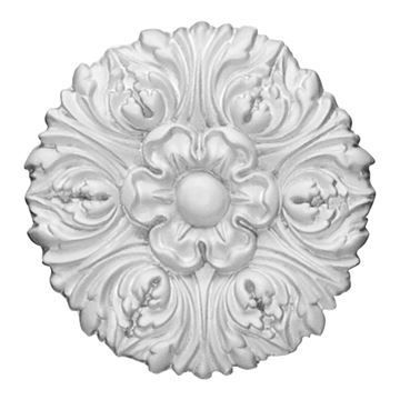 Restorers Architectural Floral Urethane Rosette Applique