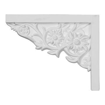 Restorers Architectural Floral Urethane Stair Bracket