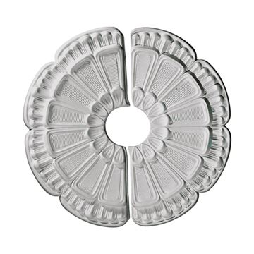 Restorers Architectural Flower 2-Piece Urethane Ceiling Medallion