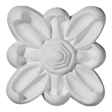 Restorers Architectural Flower Emery Urethane Rosette Applique