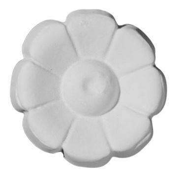 Restorers Architectural Flower Round Urethane Rosette Applique
