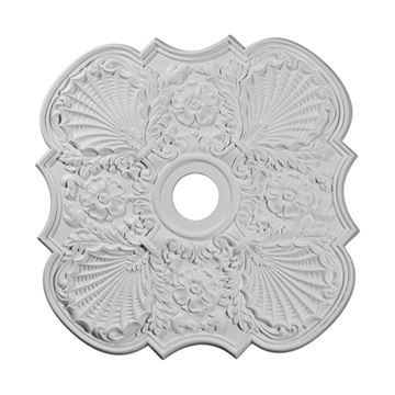 Restorers Architectural Flower Square Urethane Ceiling Medallion