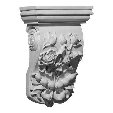 Restorers Architectural Flower Urethane Corbel