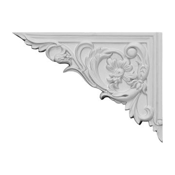 Restorers Architectural Flower Urethane Stair Bracket