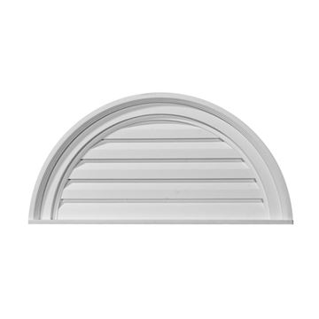 Restorers Architectural Half Round Urethane Decorative Gable Vent