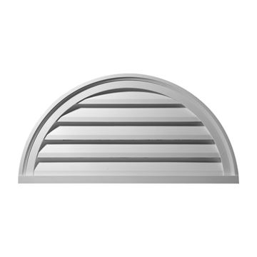 Restorers Architectural Half Round Urethane Functional Gable Vent