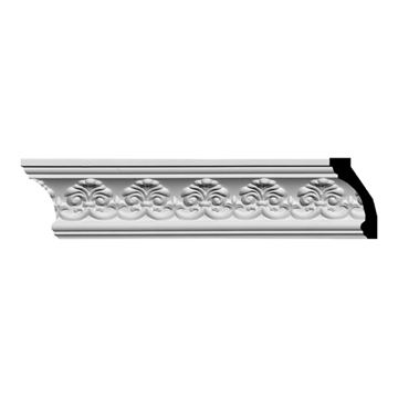 Restorers Architectural Hampshire 3 7/8 Inch Urethane Crown Molding
