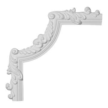 Restorers Architectural Hillsborough Corner Urethane Panel Molding