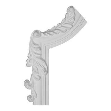 Restorers Architectural Hillsborough Half Corner Urethane Panel Molding