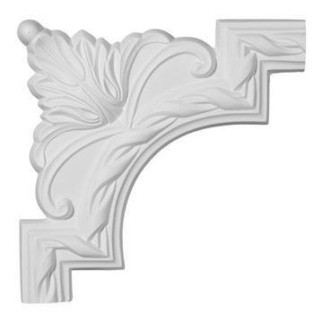Restorers Architectural Jackson Ornate Corner Urethane Panel Molding