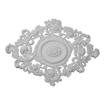 Restorers Architectural Katheryn Diamond Urethane Ceiling Medallion