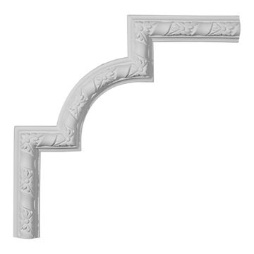 Restorers Architectural Kendall Arched Corner Urethane Panel Molding