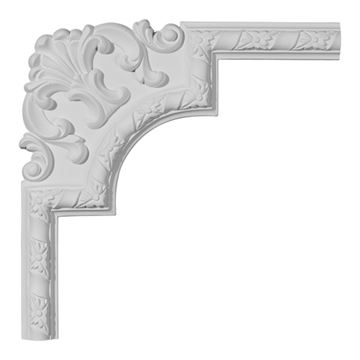 Restorers Architectural Kendall Ornate Corner Urethane Panel Molding