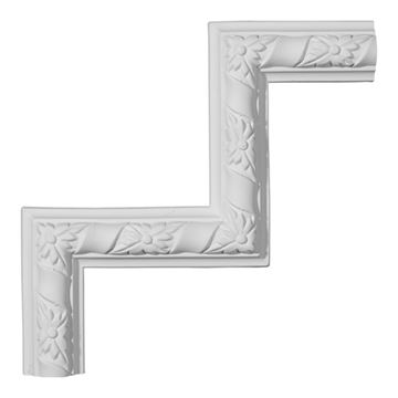 Restorers Architectural Kendall Stepped Corner Urethane Panel Molding