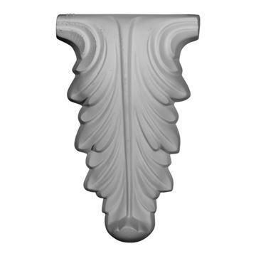 Restorers Architectural Leaf Drop Urethane Onlay Applique