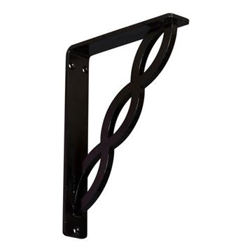 Restorers Architectural Loera Wrought Iron/Steel Single Brace Bracket