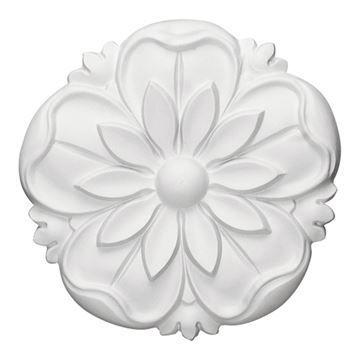 Restorers Architectural Lyre 5 7/8 Inch Flower Rosette Applique