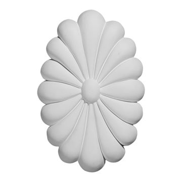 Restorers Architectural Madrid Urethane Rosette Applique