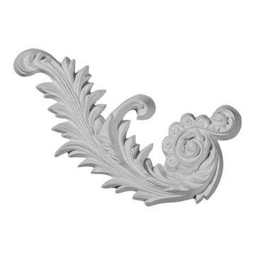 Restorers Architectural Medway 7 7/8 Inch Scroll Urethane Applique